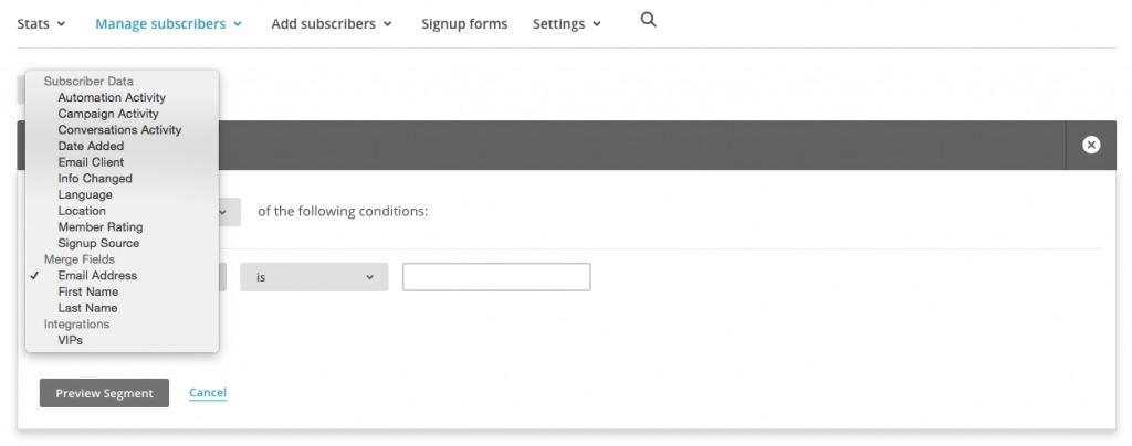 MailChimp Step 2.