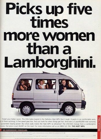 reframing for a minivan ad.