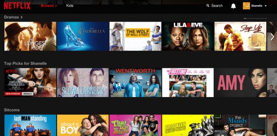 The example of personalization from Netflix.