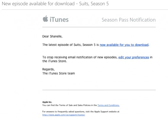 iTunes Transactional Email