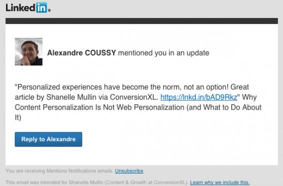LinkedIn Transactional Email