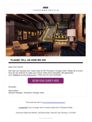 Thompson Chicago Hotel Transactional Email