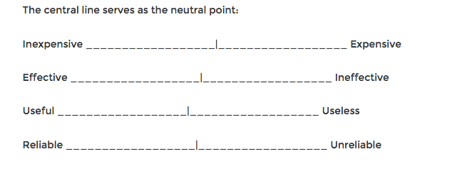 semantic differential scale example.