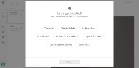 Evernote Desktop Step 1