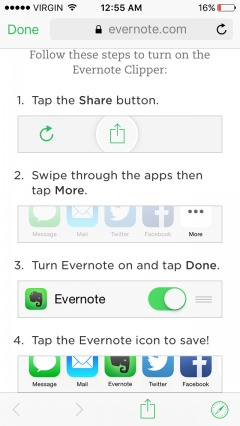 step-by-step tutorial within a single screen of mobile onboarding.