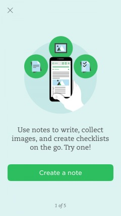 tutorial within evernote onboarding.