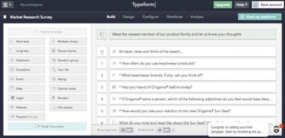 Typeform Step 4