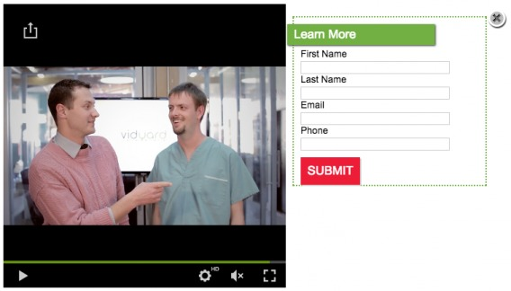 Video lead capture example.