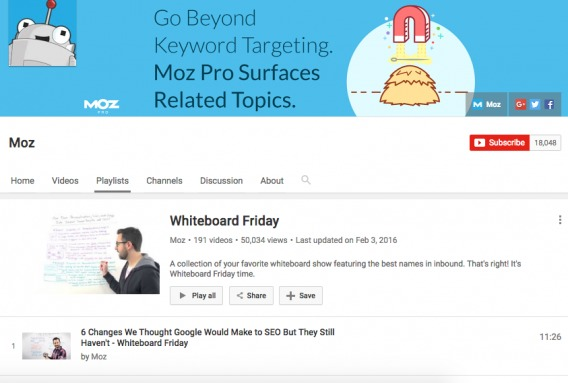 Whiteboard Friday Video (Part 1)
