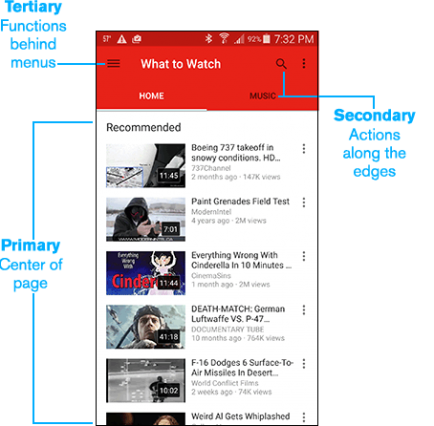 YouTube's Mobile Navigation