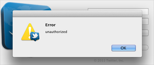 example of unhelpful error message.