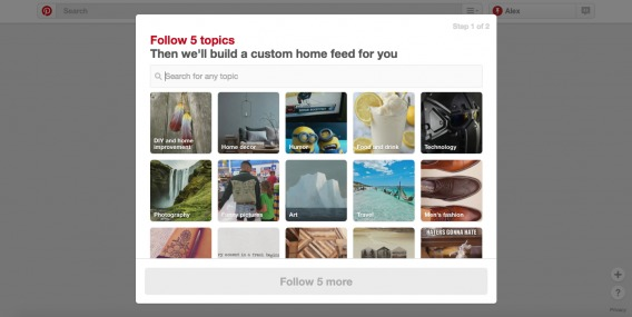 example of friction that pinterest intentional introduces into its sign-up flow.