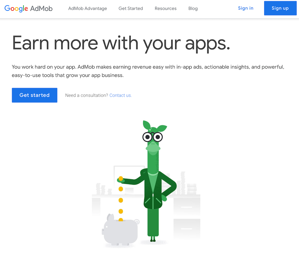 Welcome to AdMob screen.