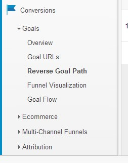 Reverse Goal path in Google Analytics.