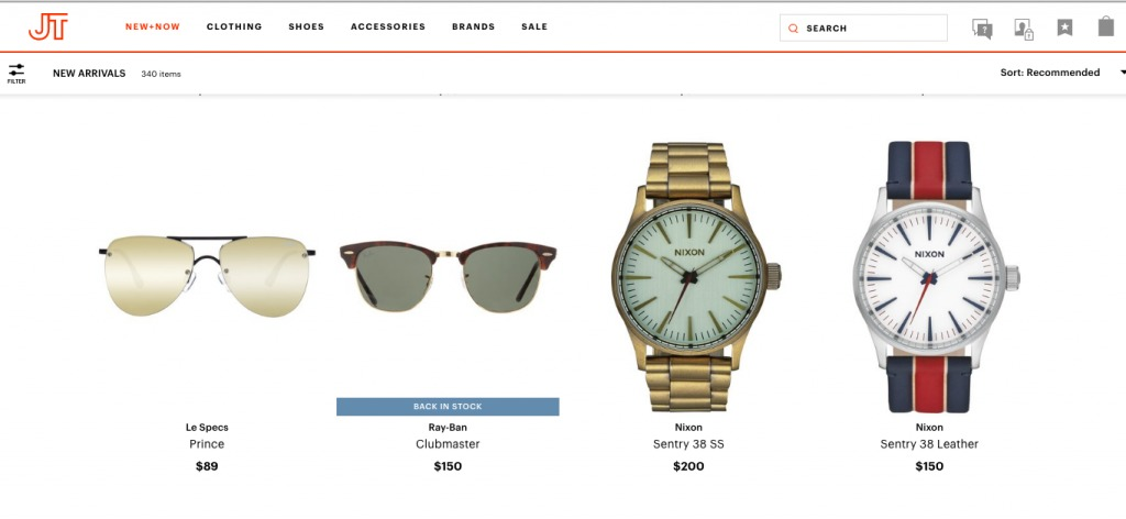 """product page that highlights that an item is """"back in stock"""" to heighten perception of scarcity."""