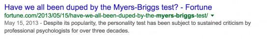 MBTI Search Results 1