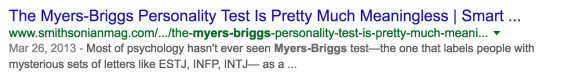 MBTI Search Results 2
