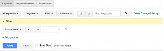 conversions-filter