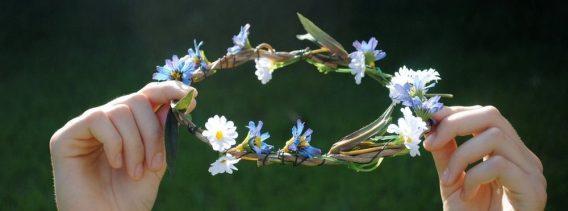 grass flower halo