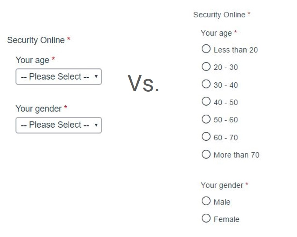 Form Field Usability Revisited: Select Menus vs. Radio Buttons [Original Research]