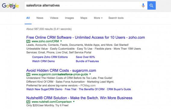 Salesforce Alternatives Search Results