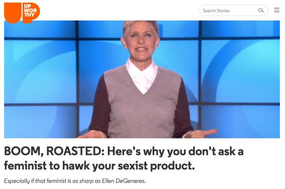 Ellen on Upworthy