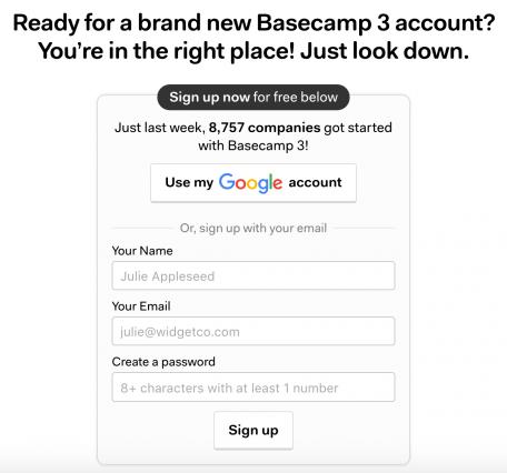 Basecamp Social Login
