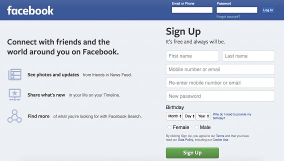 Facebook No Password Confirmation