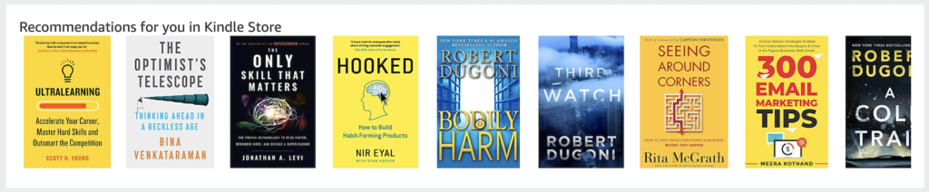 Kindle store recommendations on Amazon.
