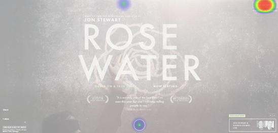 Rose water click test with UsabilityHub.