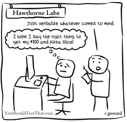 The Hawthorne effect comic.