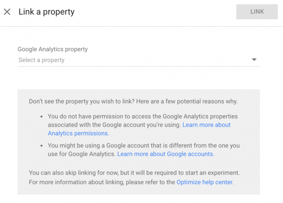 Linking Google Analytics