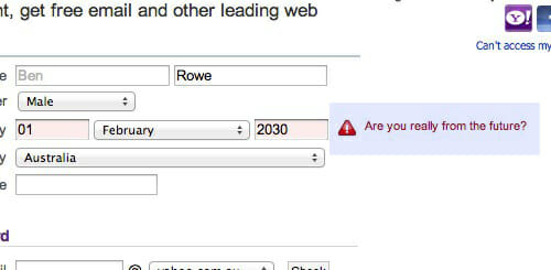 example of form validation error handing.