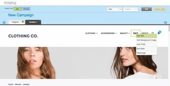 SiteSpect screenshot.