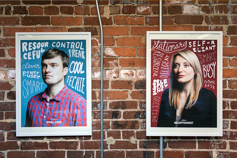 user personas wall art