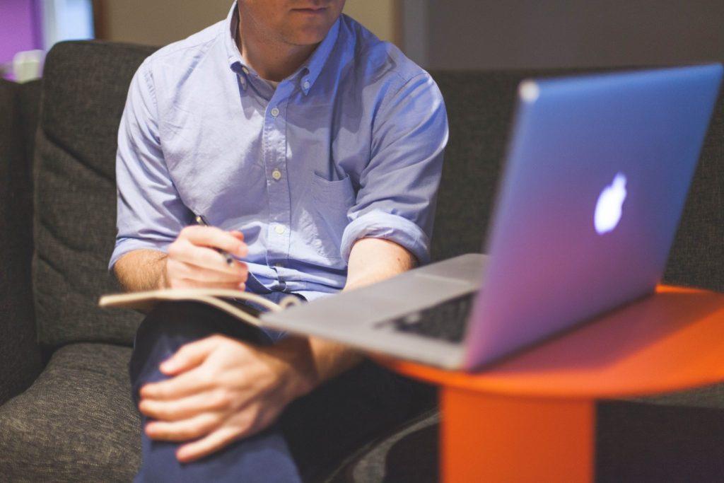 marketer training on computer