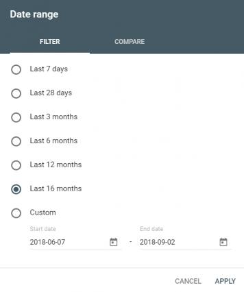 gsc date filter