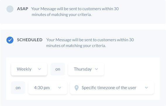 Mixpanel custom messaging
