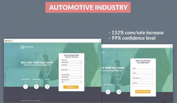multi-step form auto industry