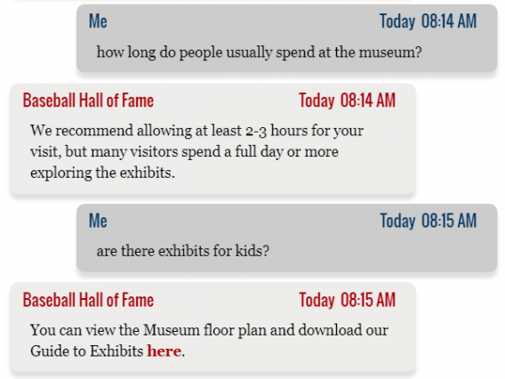 baseball hall of fame chatbot