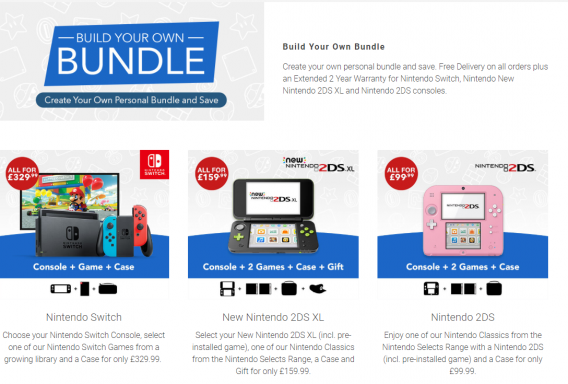 new nintendo bundles