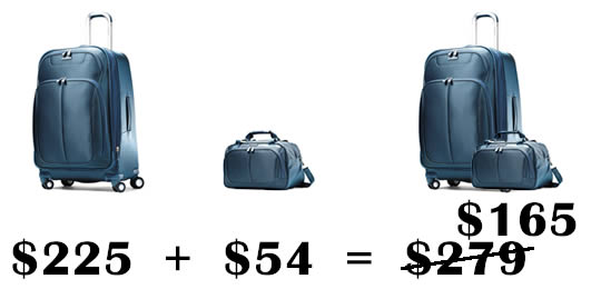 suitcases bundle pricing