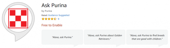 ask purina alexa skill
