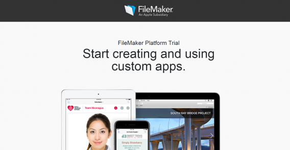 filemaker trial thank you page