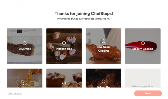 chefsteps thank you