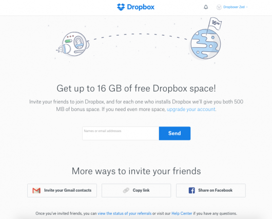 dropbox network effect