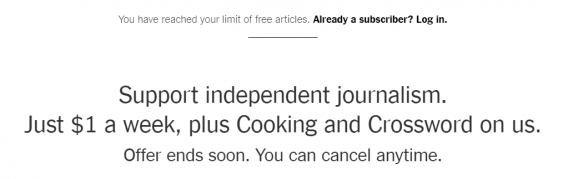 nytimes subscription limit