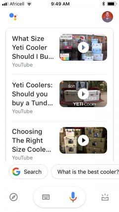yeti coolers voice search