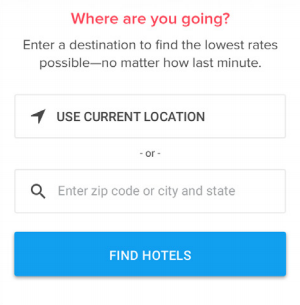 location detection option mobile form