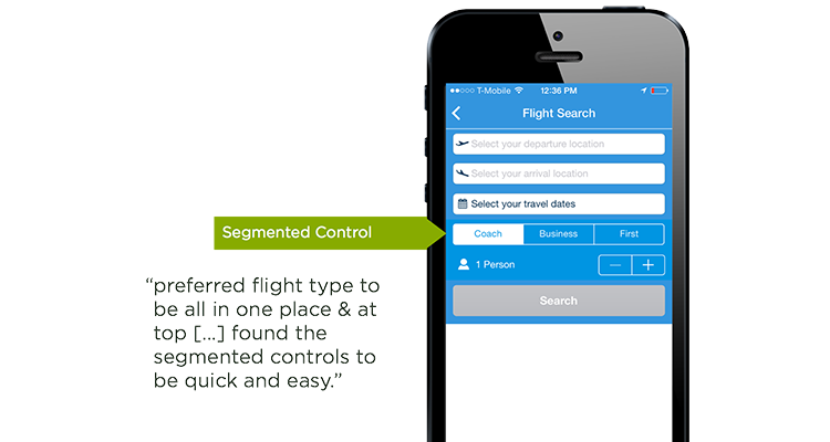 segmented controls on mobile form